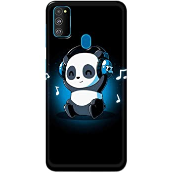 NH10 DESIGNS Hard Designer Printed Panda Music Back Cover/case for Samsung M30s
