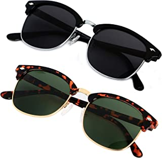 Polarized Sunglasses for Men Women Classic Half Frame...