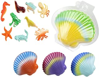 Large Magic Water Growing Shells (3 PCs) – Hatching Shell Sea Creatures - Novelty Grow Shells – Expanding Sea Life Toys