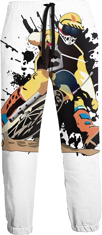 Mens Elastic Waist Sweatpants Racing Dirt Bike Joggers Sweatpants for Gym Training Sport Pants