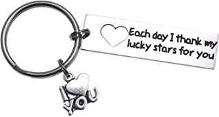 LParkin You Will Forever Be My Always Valentine's Day Keyring Groom Gift Bride Gifts Wedding for Her