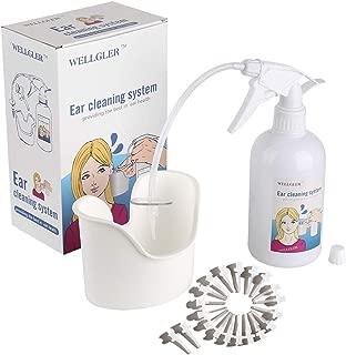 Ear Wax Removal Kit - Ear Washer Spray Bottle & Ear Basin & 20 Disposable Tips