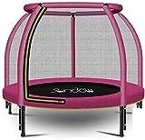 Mopoq Trampoline 48-Zoll-Outdoor & Indoor mit Enclosure Net und Sicherheit Sprungmatte Abdeckung |Geburtstags-Geschenke for Jungen und Mädchen, 440lbs Laden (Color : Rosa)