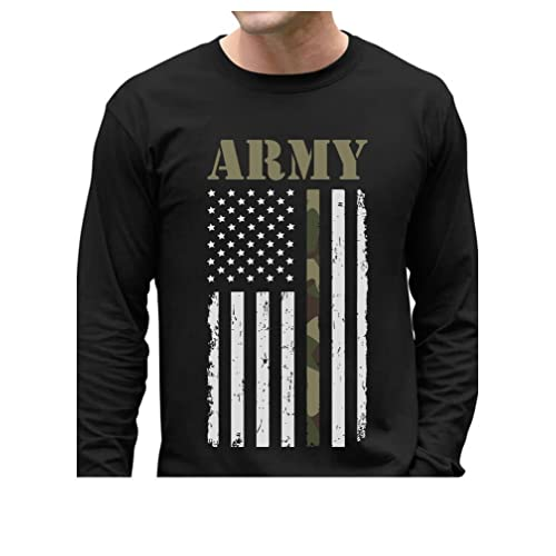 316b66b4 Big USA Army Flag - Gift for Soldiers, Veterans Military Long Sleeve T-Shirt