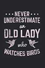 Never Underestimate An Old Lady Who Watches Birds: Birding Notebook, birdwatching gift idea for the bird watcher (Dot Grid...