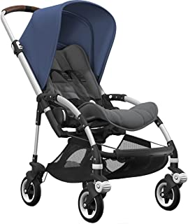 Bugaboo Bee5 Complete Stroller with Aluminum Frame with Grey Melange Seat and Sky Blue Sun Canopy