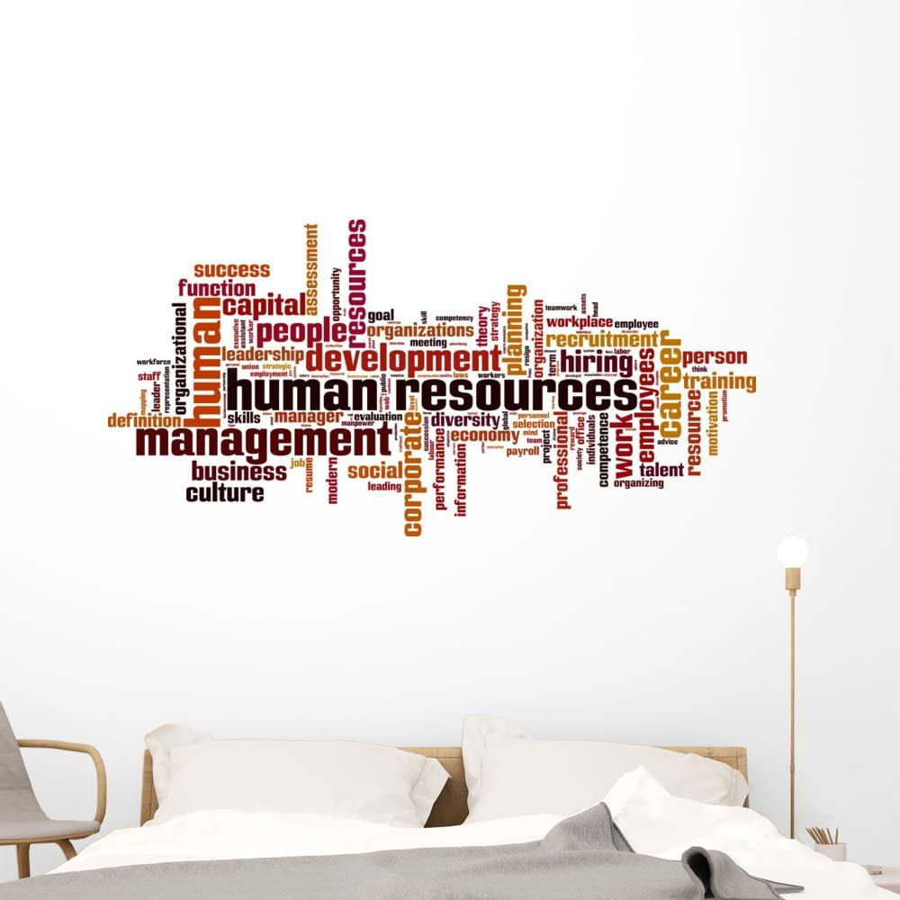 Wallmonkeys Human Arlington Mall Resources Wordcloud Wall Special Campaign Decal Peel Stick and