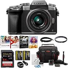 Panasonic LUMIX G7 Mirrorless Camera w/ 14-42mm f/3.5-5.6 Lens & 64GB SD Card Bundle (Silver)