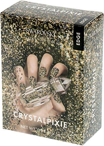Swarovski Crystal Pixie Edge Nail Box 5g Golden Dreams
