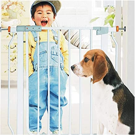 LELEGuardrail Adjustable Super Wide Walk-Thru Isolation Barrier With Pressure Mount Double Lock Baby Pet Safety Gates For Indoor Bottom Top Stairs Fence  Color High78 width  Size 125-132cm