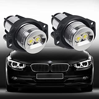 VANJING 2PCS 6W 7000K BWM LED Angel Eyes Halo Light Bulb Compatible for BMW 3 Series Fit for 03.2005-09.2008 BMW E90(Sedan/Saloon),09.2005-09.2008 E91 (Touring)