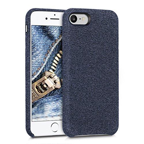 kwmobile Schutzhülle kompatibel mit Apple iPhone 7/8 / SE (2020) - Hülle Stoff - Hülle Handy - Backcover Cover Dunkelblau