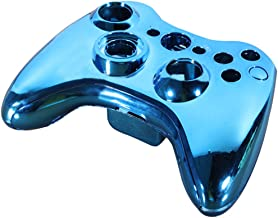 Blue Chrome Custom Wireless Controller Replacement Shell Case Button For Xbox 360