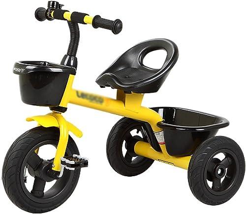 Kinderfahrrad DWW Kinder Fahrrad Hochwertige Kohlenstoffstahl Dreirad Fahrrad aufblasbare Titan Leere Runde Konfiguration Korb Baby im Freien Fahrt