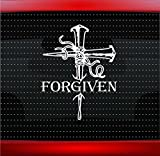 Noizy Graphics Forgiven Nails Cross Christian Car Sticker Truck Window Vinyl Decal Color: White
