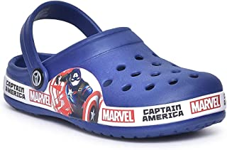 Marvel Avengers by Toothless Kids Boys Royal Blue Clogs