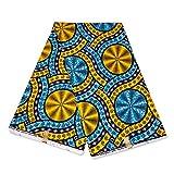 Julius Holland Stoff, afrikanischer Stoff, gelb/blaue