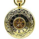 LYMUP Reloj de Bolsillo, Retro Case Dorado Esqueleto Vintage...
