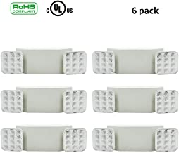 Ainfox 6Pack LED Emergency Exit Light, Dual Head Hardwired with Battery Back-up Ultra Bright 120V/277VAC White (6 Pack)