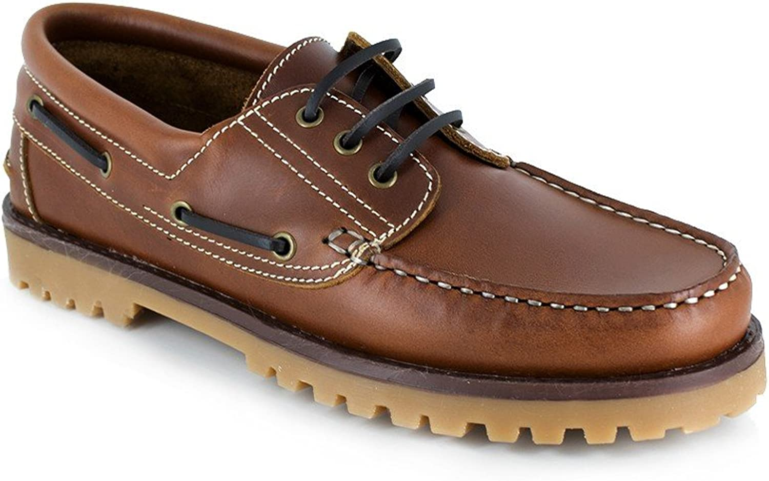 J.Bradford Boat Loafer Cognac Leather JB-DOLAR