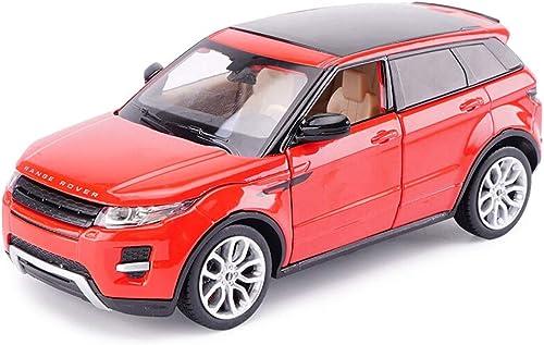mejor calidad mejor precio JXXDDQ Modelo de Coche Coche Coche 1 24 Relación Land Rover Range Rover Aurora Simulación Aleación de fundición a presión Modelo de Coche, rojo 18x7x7CM  servicio considerado