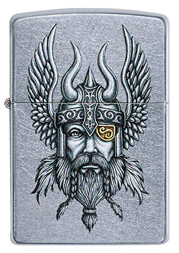 Zippo Feuerzeug Logo, Unisex, Viking Warrior Chrom, Regular