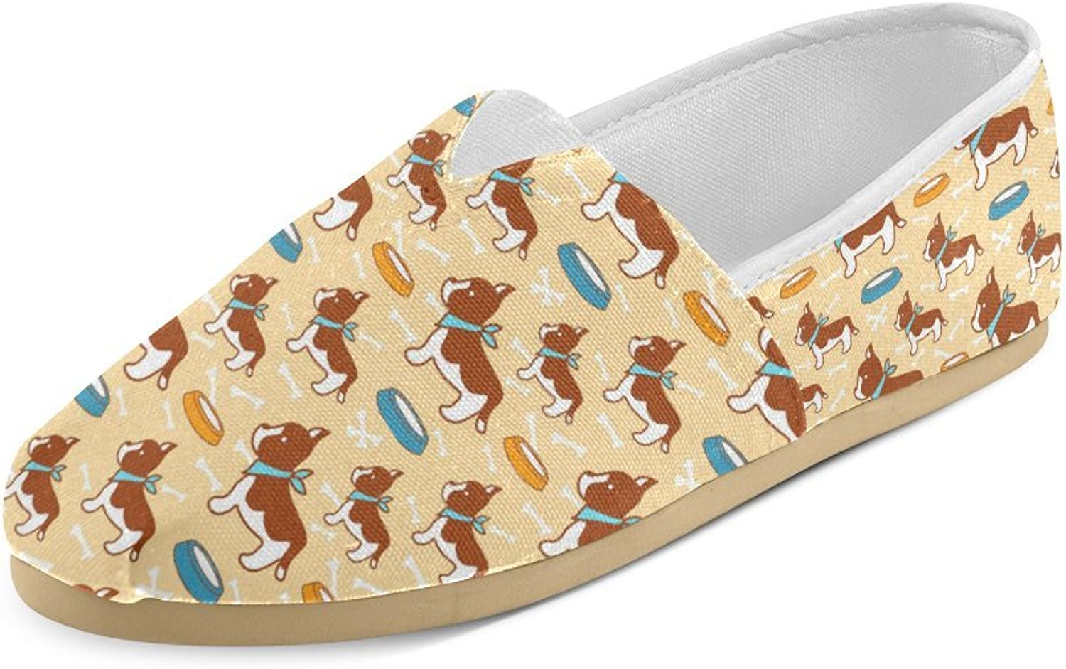 HUANGDAISY Unisex shoes Dog Drinking Background Casual Canvas Loafers for Bia Kids Girl Or Men