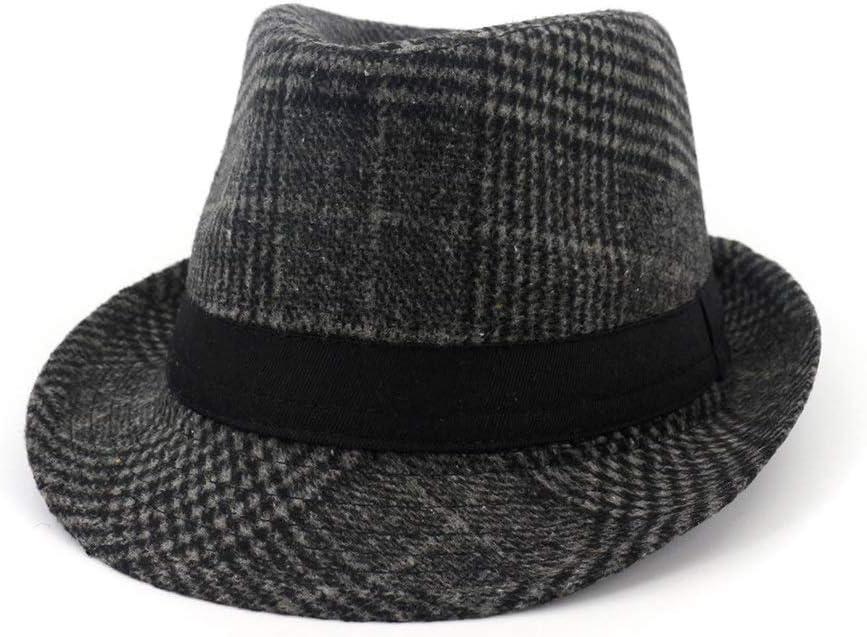 ZLQQLZ Women Cap Fashion Unisex Men Fedora Hat with Ribbon Panama Hat Jazz Hat Outdoor Dad Hat Hat (Color : 1, Size : 56-58)