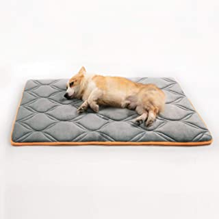 Petsure Memory Foam Dog Crate Mat for Small, Medium, Large Dogs & Cats - Dog Crate Beds Suitable for 36 inches/42 inches/48 inches Crates - Orthopedic Dog Pad - Nonskid Bottom - Grey