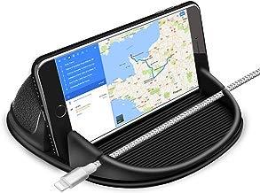 Cinati Soporte Móvil Coche, Soporte Móvil para Coche Salpicadero Silicona Antideslizante, para iPhone X/ 8 Plus/8/7 Plus/ 6 6S Plus, Samsung Galaxy S8?Xiaomi, Navman GPS, etc.