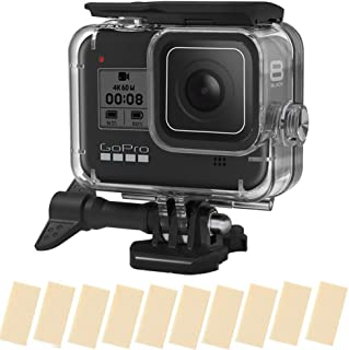 TERSELY Housing Case Cover, 16in1 Anti-Fog Inserts Strip for GoPro Hero 8 (2019) Black, Waterproof Case Diving Protective ...