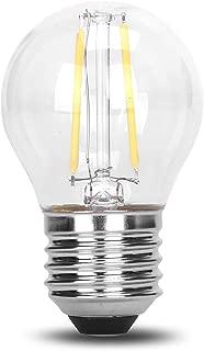 G45 Classic Shape LED Edison String Filament 2W COB Light Bulb E26 Medium Base Rope Lamp DC 12V Low Voltage 12 Volt Battery Lighting Landscape Garden Outdoor Solar - 6000K Cool White, 2 Watt