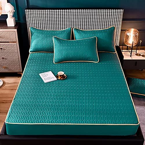 Haiba Biancheria da letto Lenzuolo di cotone Lenzuola di qualità alberghiera, 200 x 220 cm
