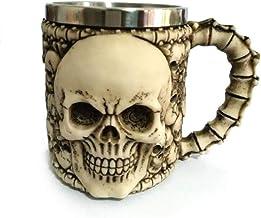 Skull-vormige 3D-mok, een grote capaciteit roestvr...