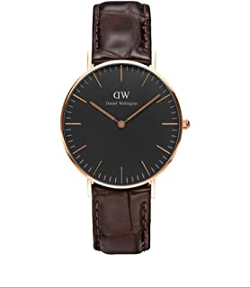Classic York Watch, Italian Brown Leather Band