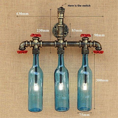 Z&MDH wandverlichting retro vaatwasser fles wandlampen, cafégang decoratie, blauw