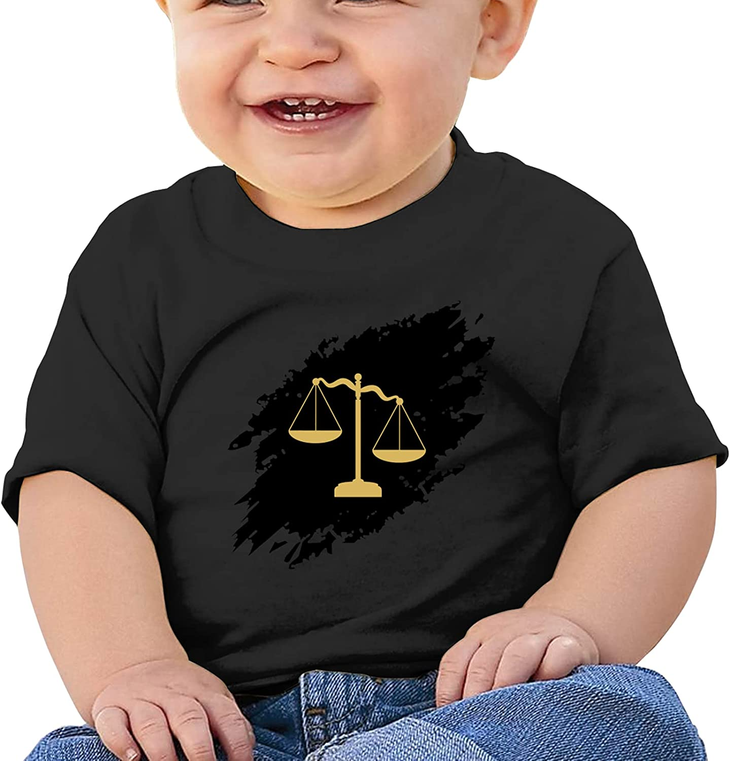 Golden Scales of Justice Girl Boysbaby Cotton T-Shirt T Shirts