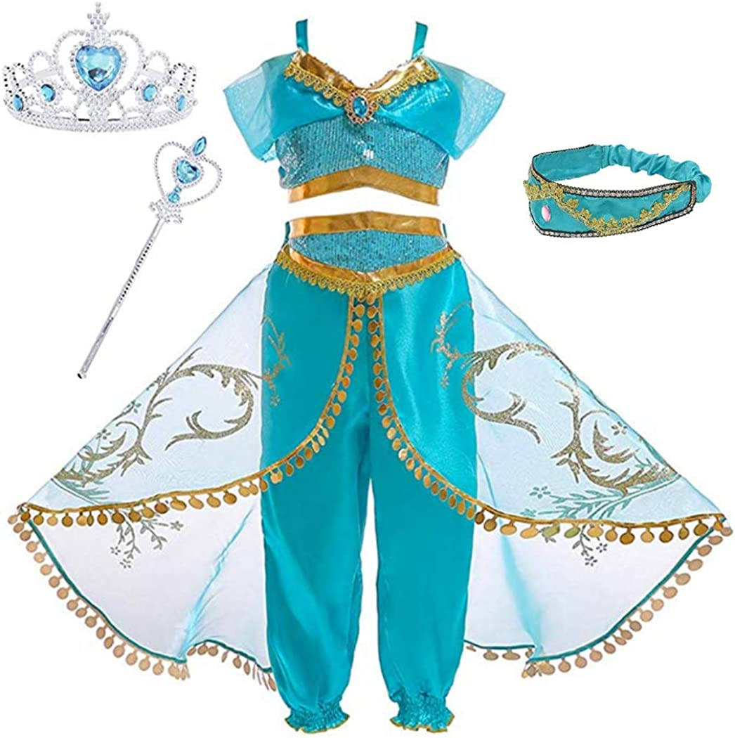 Sinmoocy Costume for Girls Princess Dress Up Halloween Cosplay Fancy Party Outfits 3-10 Years