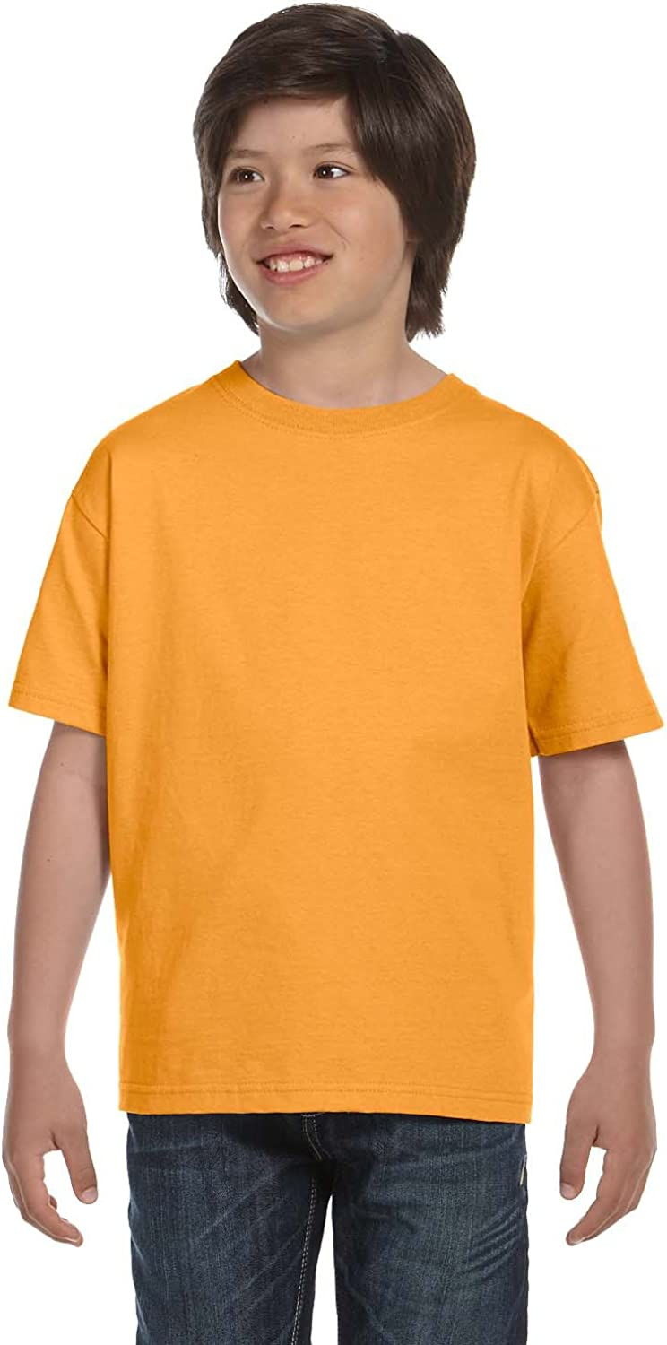 Hanes Youth 61 Oz BEEFY-T - Gold - L - (Style # 5380 - Original Label)