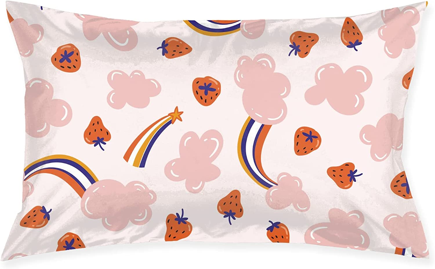 Rainbow Special sale item Sugar and Strawberries Pillowcase Sl Pillows 2021 spring summer new Bed