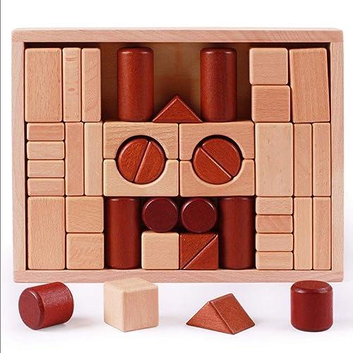 Kind Holzblock Buche Baby 1-6 Jahre alt Brain Game Safe Farbe auf Wasserbasis kreativ