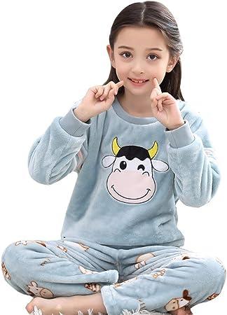 qazxsw Pijamas Coral Fleece Pijamas de Manga Larga ...