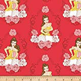 Eugene Textiles 'Disney Beauty and the Beast Belle' Quilt Fabric, Ruby
