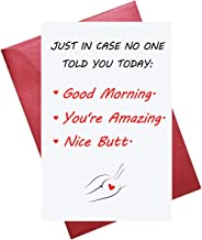 Funny Cute Valentine's Day Greeting Card, Reminder Love Card, Love You Card, Happy Anniversary Card, Envelope Included, Blank Inside