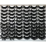 Pooplunch False Eyelashes 30 Pairs Dramatic 6 Styles Fake Eyelashes Pack 20MM Faux Mink Lashes Long Thick Crossed Fluffy Volume Soft Reusable Eye Lashes Wholesale Multipack