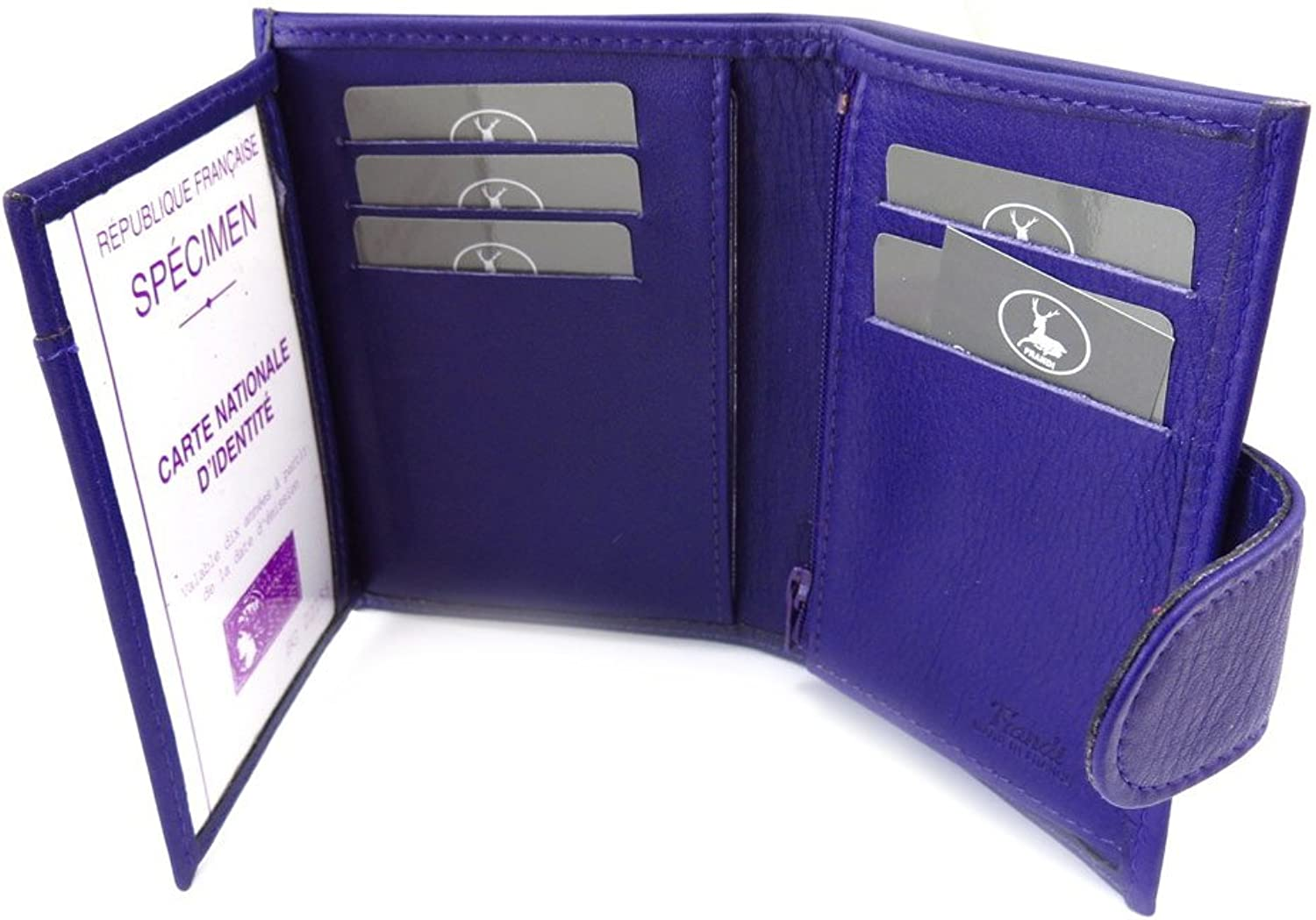 Wallet leather 'Frandi' purple (european).