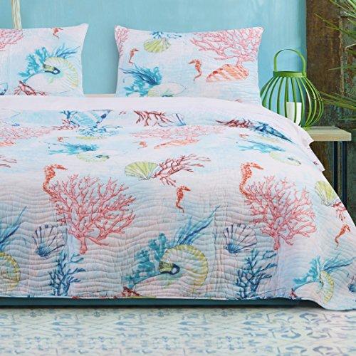 Barefoot Bungalow Sarasota Quilt Set, King, Multicolor