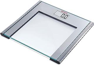 Soehnle Silver Sense Personal Bathroom Digital Scale; Smart aluminium frame, safety glass; Size D 32 x W 33 cm; Kg, stone,...