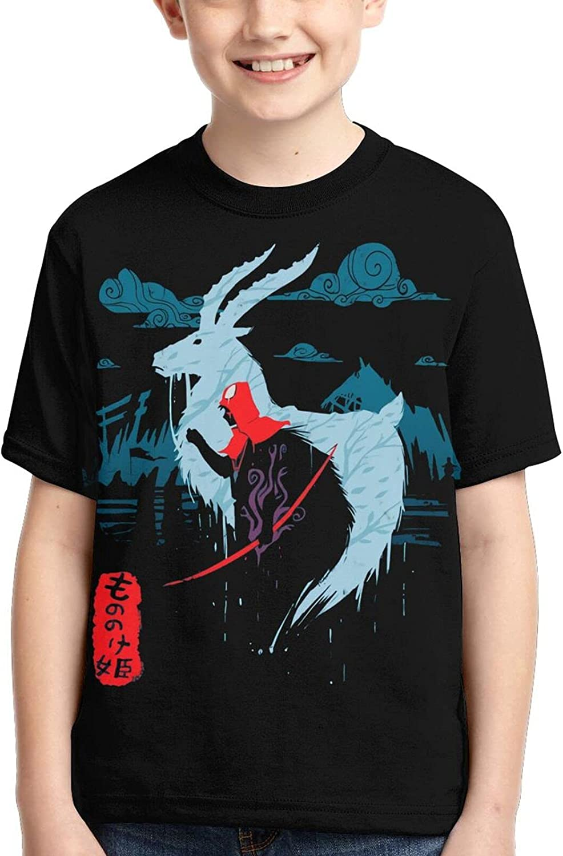 Princess Mononoke Shirts Crew Neck Kid Anime T-Shirt Novelty T Shirts Tops