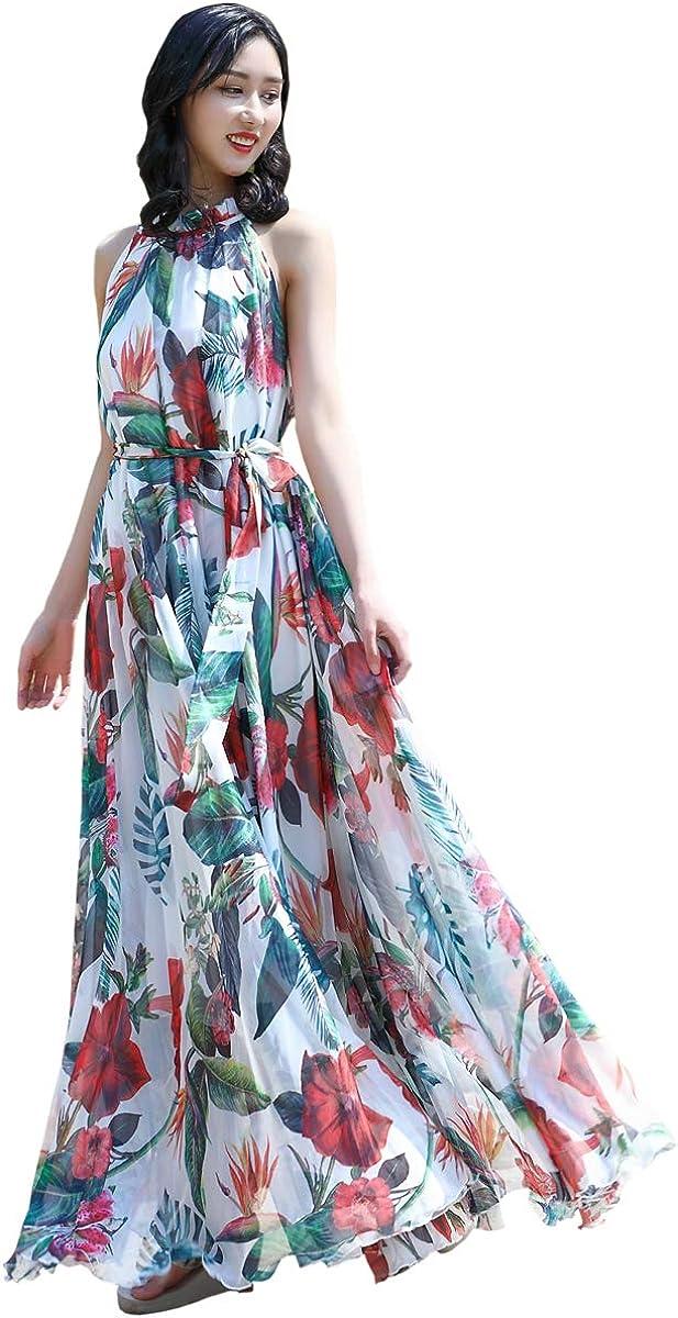 MedeShe 好評受付中 保証 Womens Hippie Chiffon Maxi Size Bohemi Casual Plus Dress